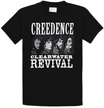 Printed T Shirt 2018 Fashion Brand Short Sleeve Creedence Clearwater Revival MenS Black Crew Neck Mens Shirts