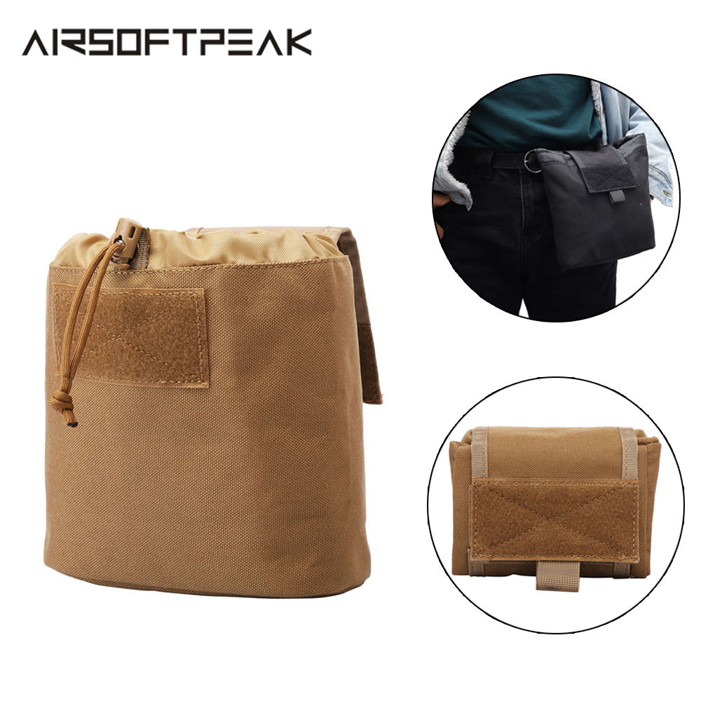 Tactical Folded Molle Dump Pouch Military Drop Magazine Pouch Utility EDC Bags Hunting Rcovery Mag Pouches Airsoft Ammo Hunting
