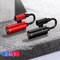 Adaptador USB, USB tipo C a 3,5mm AUX Jack adaptador de OTG para Huawei P30 Pro Xiaomi Mi 9 8 Se Oneplus 7 Pro Audio USB C adaptador de auriculares de Cable