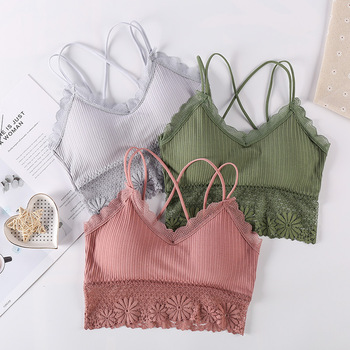Lace Bra Women Intimates Yoga Tops Seamless Bra Padded Wire Free Running Yoga Gym Crop Top Women Push Up Sport Bra Girl Top lasperal gym fitness women yoga bras girl seamless padded top push up vest wirefree shockproof sexy lace crop top soutien gorge