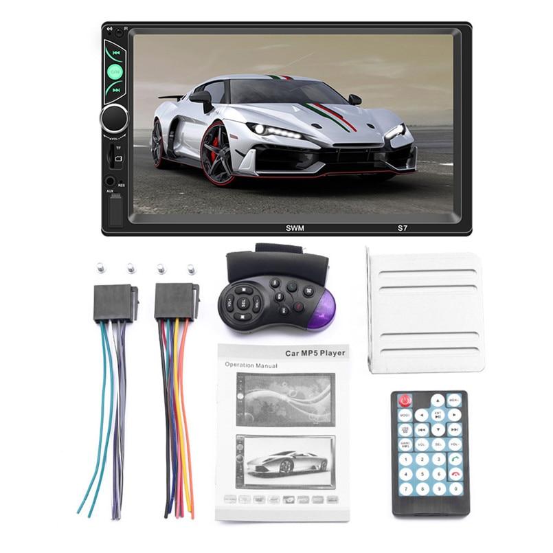 SWM-S7 7 Inch HD Touc-h Big Screen Car BT MP5 Player Car MP3 Card Machine FM With CD Player DVD 50AUG1221