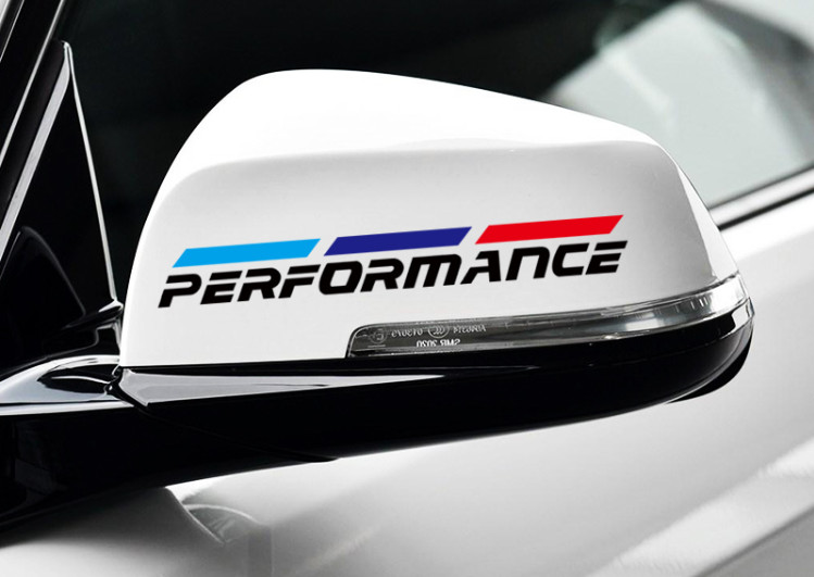 2pcs M Power Performance car rearview mirror reflective decal sticker for <font><b>BMW</b></font> 1 <font><b>3</b></font> 4 5 7 <font><b>Series</b></font> <font><b>GT</b></font> X1 X3 X4 X5 X6 decoration image
