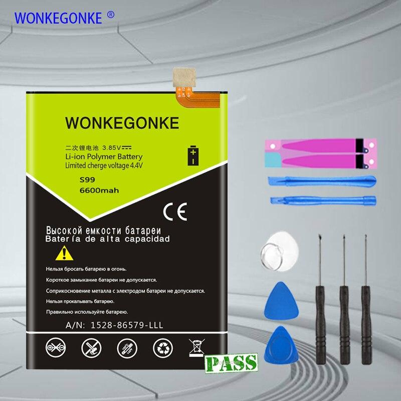 WONKEGONKE For HOMTOM S99 battery 6600mah(China)