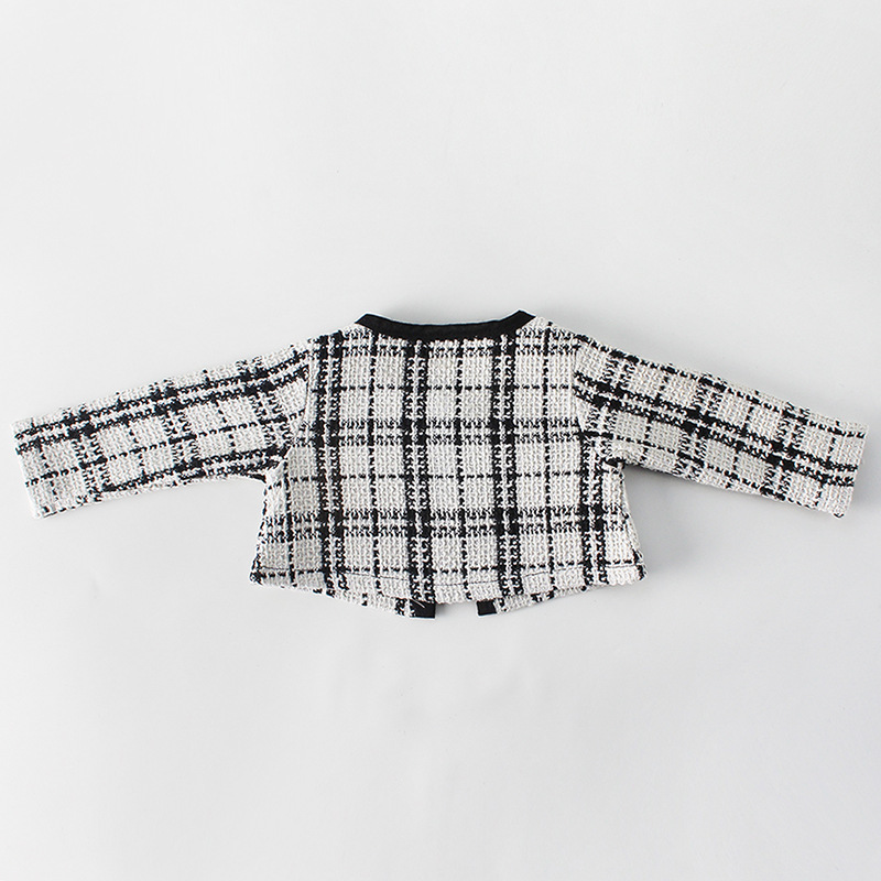H232b1b6c4a104df59e8581ab0a6628daO Fashion Baby Rompers for Girls Plaid Infant Jumpsuit Baby Girl Romper with Coat Baby Onesie Toddler Clothes Baby Costume