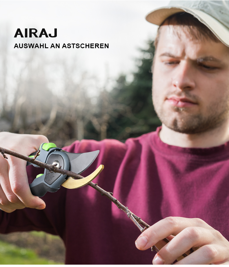 AIRAJ Gardening Scissor for Pruning and Shearing of Branches of Fruit Trees and Plants 6