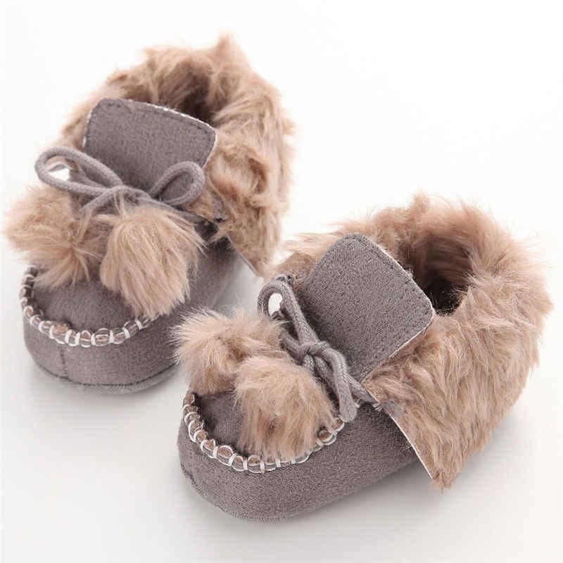 أحذية للأطفال البنات والأولاد للشتاء أحذية لينة للأطفال أحذية للرضع مزودة بقماش القطيفة أحذية لسرير الأطفال حديثي الولادة أحذية بنعل ناعم