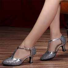 Women Practice Jazz Ballroom Dancing Shoes Female Latin Dance Shoes Girls Ladies Women Sport Dance Shoes High Heel Sandals Women