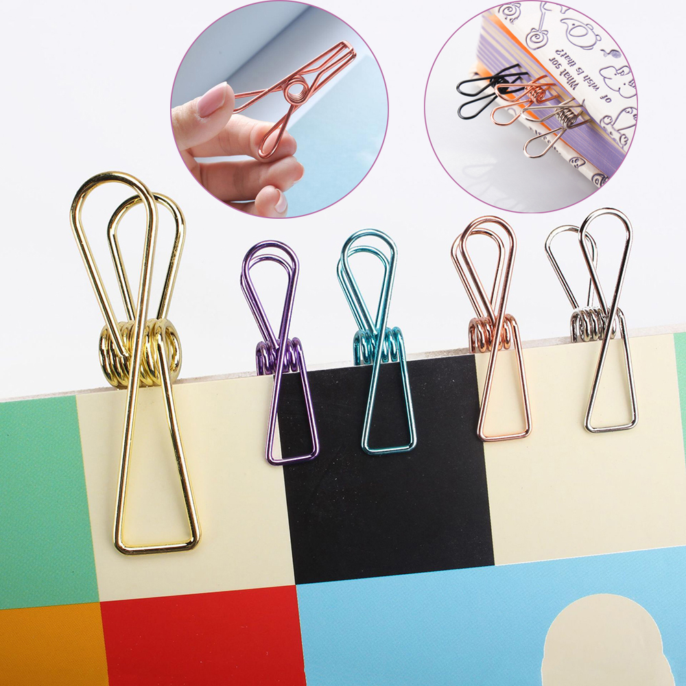 3 PCs/Set Notes Letter Paper Clip Lovely Fish Clip Metal Binder Clips Retro Photo Book Storage Clip School Office Supplies