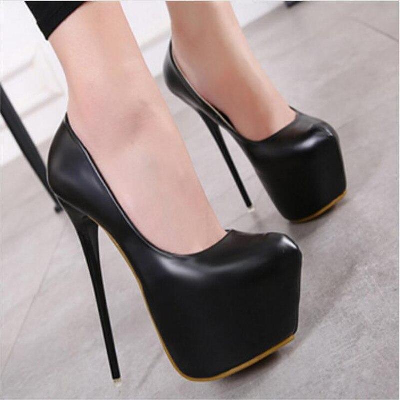2019 Fashion Women Super High Heels Shoes Concise Platform Shoes Thin Summer Shoes Pumps Wedding Party Sexy 16cm Shoes