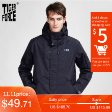 Sport-Jacket Men's Parka Tiger-Force Coat Hood Zipper Warm Autumn New Spring Casual
