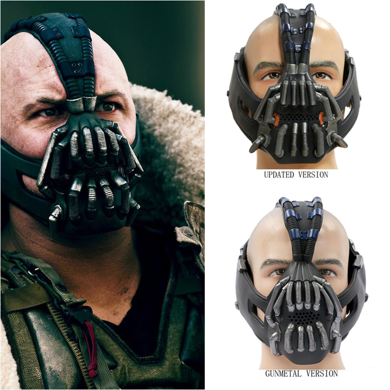 Coslive Bane Mask The Dark Knight Rises Batman Bandana Neck Scarf Costume Prop PVC Replica Helmet Halloween Replica Adults