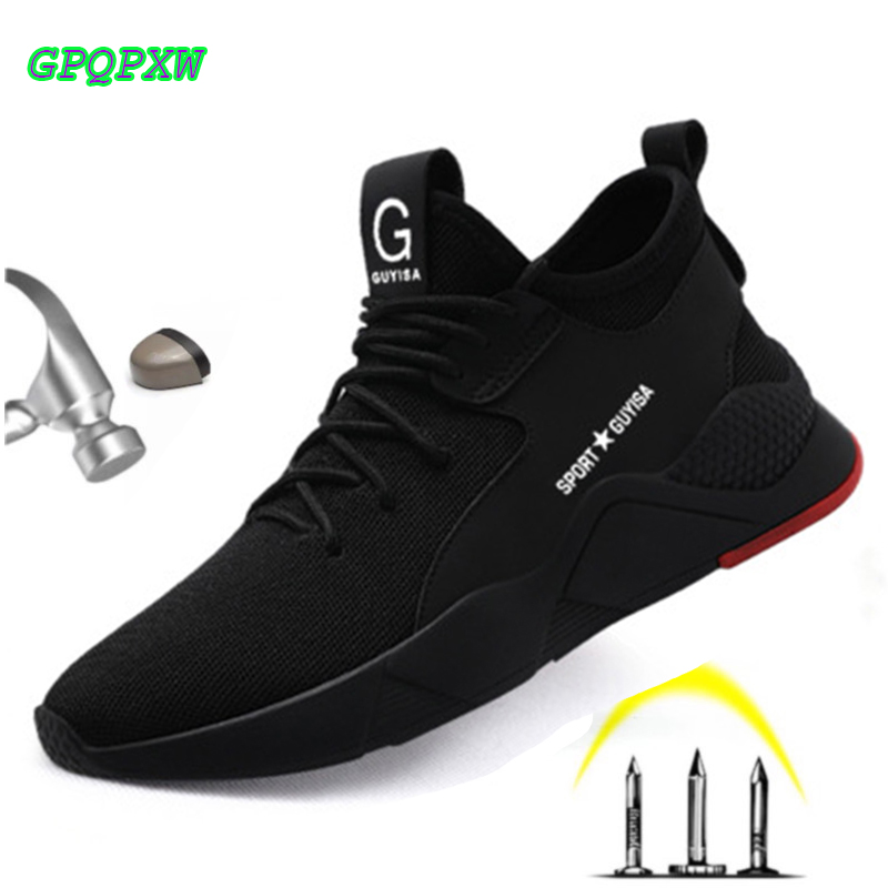 Steel Toe Safety Work Shoes Fashion Sneakers Men Outdoor Military Sneakers Male Ankle Boots Fighting Anti-crush Work Safety Shoe
