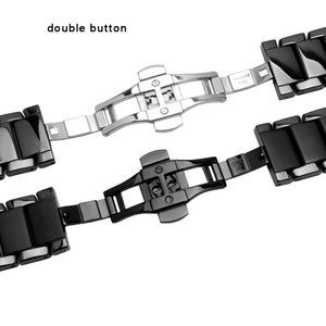 Image 4 - 22mm 24mm ceramiczna watchband czarna opaska na nadgarstek błyszcząca i matująca bransoletka dla AR1451 1452 męska zegarek akcesoria