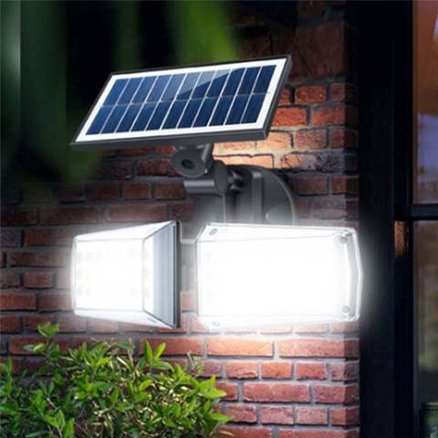 radar luz solar cob lampada de parede