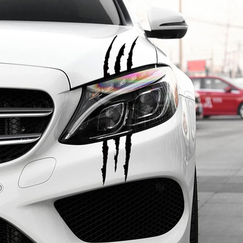Reflective Claw Scratch Marks Headlight Decal Car Stickers for Volkswagen vw POLO Tiguan Passat Golf EOS Scirocco Jetta Bora image