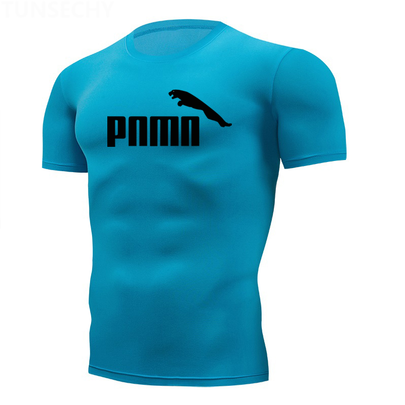 Compression Shirt Homme Running Men Designer Quick Dry T-Shirts Running Slim Fit Tops Tee Sport Men's Fitness Muscle Gym T Shirt