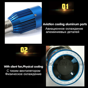 Image 3 - KEIN NEW Angel eyes COB Motorcycle Headlight Bulbs H4 Led H6 ba20d HS1 LED Motorbike Head Lamp Scooter Accessories Fog Light 25W