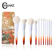 CHMAKE brushes Maple leaves Professional Makeup Brushes Set Foundation Powder highlighter Make up brush natural-synthetic hair