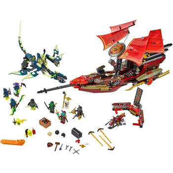 06020 Lepining  1325pcs ninja final fight of destiny's bounty 9 figures building blocks bricks 70738 Bricks Toys kids gifts 1