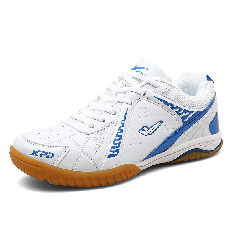Unisex Professional Table Tennis Shoes Bailan Men Table Tennis Training Sports Shoes Non-Slip Rubber Girls Pingpong Sports Shoes - Цвет: White Blue