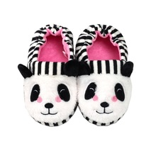 Kids Boys Girls Slippers Cartoon Panda Home Shoes For Children Winter Indoor Bedroom Warm Velvet Baby Boots