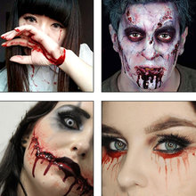 Body Paint Wounds Scars Bruises Cosplay Party Vampire Decorations Supplies 1Pc Halloween Makeup Ultra-realistic Fake old wounds
