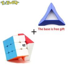 TXTWHY Qiyi Warrior W 3x3x3  Cube Magic Professional 3x3 Speed Cubes Puzzles 3 by Toys For Boys