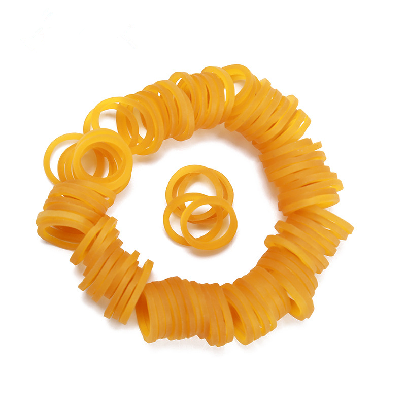 High Strength10mm Yellow Rubber Band School Office Tying Gadgets Strong Elastic Rubber Bands Natural Rubber Product