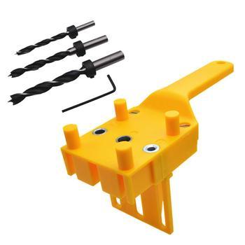 1/8/41 Uds. Plantilla de pasador 6/8/10mm brocas de madera guía de agujeros localizador trabajos de carpintería juego de herramientas manuales