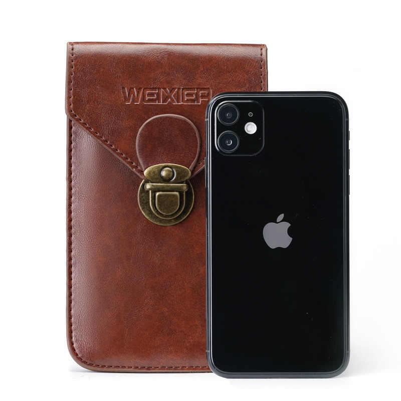 6.5 pouces Étui En Cuir pour iPhone X XS MAX 7 8 6 plus Clip Ceinture Pochette de Téléphone Portable pour Samsung S10 S9 S8 plus Note 8