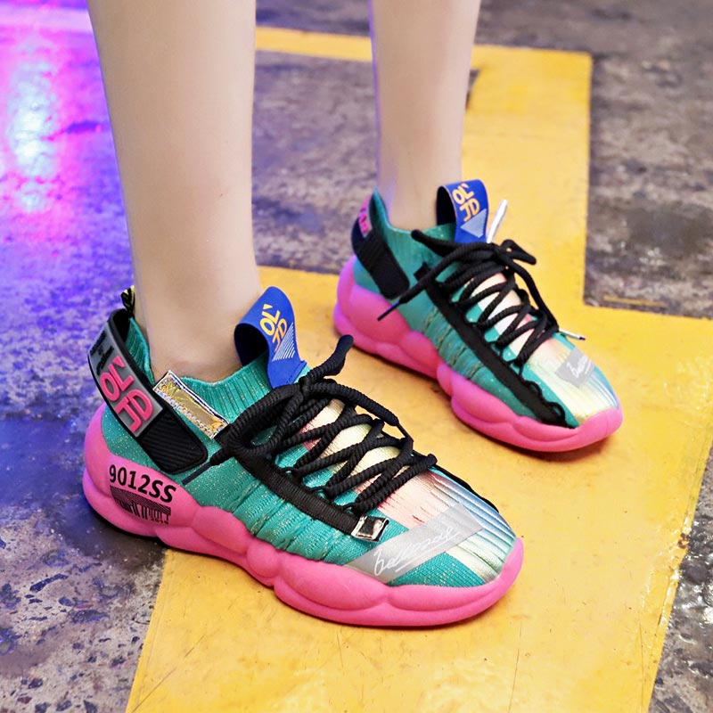 Mesh Sneakers Green Women's Sport Shoes Sports Woman Running Shoes Women's Athletic Shoes Tennis Summer Training Footwear A-401