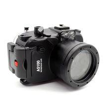 Meikon 40 M/130FT עמיד למים מתחת למים מצלמה שיכון מקרה קשה עבור Sony A5100 16 50mm עדשה + 67mm מסנן אדום