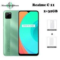 Realme C11 2GB 32GB 5000mAh Battery Smartphone 6.5 inch Fullscreen helio g35 13MP Dual Camera 3 card slot Mobile Phone 1