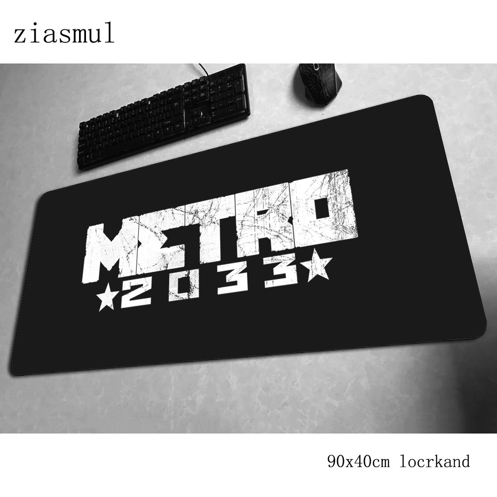 Metro 2033 Mouse Pad 90x40cm Mousepads Hot Sales Best Gaming Mousepad Gamer Locrkand Personalized Mouse Pads Keyboard Pc Pad