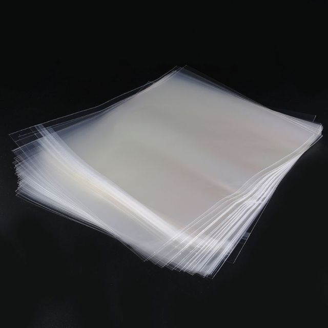 "50pcs 12 ""PE ไวนิลบันทึก LP LD บันทึกถุงพลาสติก Anti Static บันทึกแขนด้านนอกด้านในพลาสติก clear คอนเทนเนอร์"