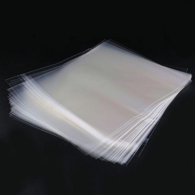 """50pcs 12 """"PE ויניל שיא LP LD שיא פלסטיק שקיות אנטי סטטי שיא שרוולים חיצוני פנימי פלסטיק ברור כיסוי מיכל"""