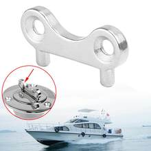 Remplissage de pont, réservoir, réservoir, gaz, eau, acier inoxydable, bouchon de rechange clé, outil de plaque de remplacement pour bateau Yacht