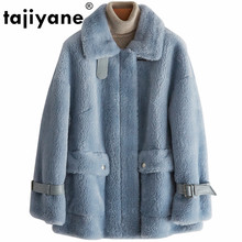 Real Fur Coat Wool Jacket Autumn Winter Coat Women Clothes 2