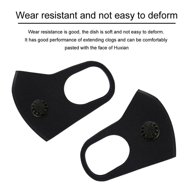 Breathable Reuseable Bacteria Proof Facial Mask With Valve Activated Carbon Protect Lung From Pollution Windproof Masks
