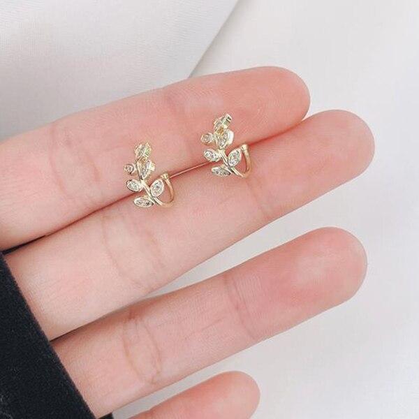 Mode Kleine Ohr Manschette Ohrring Für Frauen Ohr Clip Gold Farbe Kein piercing Gefälschte Knorpel Ohrringe