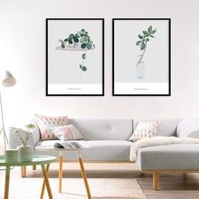 Картина на холсте бонсай растение украшение для дома скандинавский