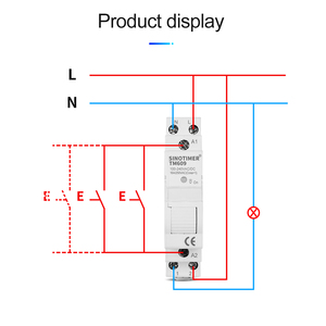 Image 4 - Home Smart 18mm 1P WiFi Remote APP Control Circuit Breaker Timing Switch Staircase Timer Din Rail Universal 110V 220V AC Input