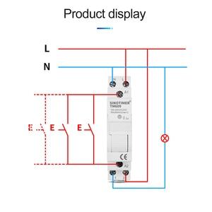 Image 4 - Thuis Slimme 18 Mm 1P Wifi Remote App Controle Stroomonderbreker Timing Schakelaar Trap Timer Din Rail Universele 110V 220V Ac Input