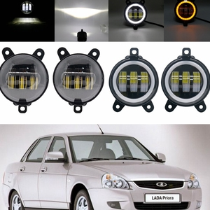 3.5 Inch Waterproof 30W 6000K Round Led Fog Light fog Passing Lights for lada Priora and some Russia cars front fog Lamp(China)