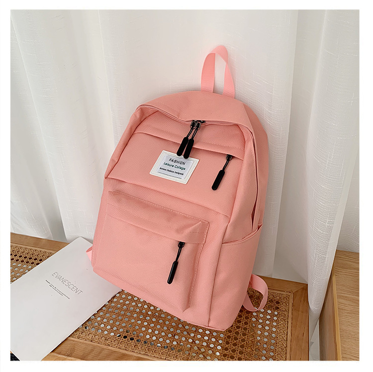 2020 Jiulin NEW Nylon Backpack Solid Color Shoulder Bag Casual Women Backpack Teenage Girl School Bag  Backbag Mochilas Female