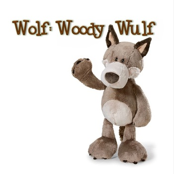Plush toy stuffed doll nice cute forest animal Wolf Valentine birthday gift 1pc - discount item  15% OFF Stuffed Animals & Plush