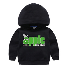 Hoodie Sweatshirt  Toddler Baby-Boys-Girls Children Tops Clothes Clothing Autumn Spring Cartoon Cotton Print Apple
