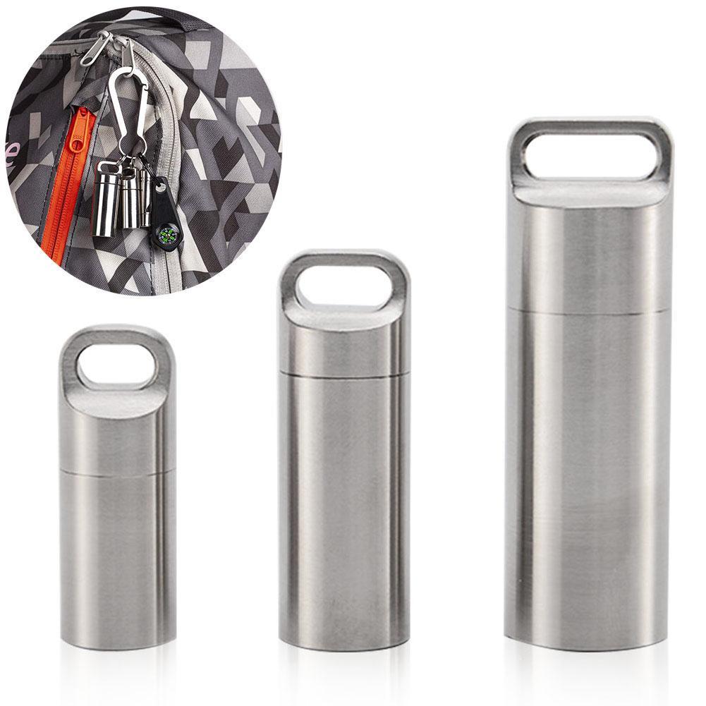 Водонепроницаемая Бутылка уплотнения капсулы мини из нержавеющей стали EDC для выживания контейнер, коробка для таблеток капсулы таблетки емкость для бутылок чехол для путешествий|Уличные инструменты|   | АлиЭкспресс