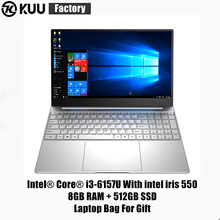 KUU S6 Intel Core i3-6157U 2.4GHz Laptop 8GBRAM 512GBSSD Student Learning Netbook FHD 1920x1080 Gaming Notebook Business Office