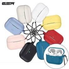 ESR pour Apple étui pour écouteurs avec porte clés crochet couverture en Silicone pour Apple sans fil Bluetooth étui pour écouteurs s étui de charge